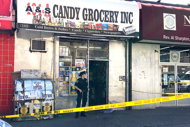 A 46-year-old man was fatally stabbed inside a bodega on West 145th Street near Lenox Avenue Friday morning, Sept. 22, 2017.