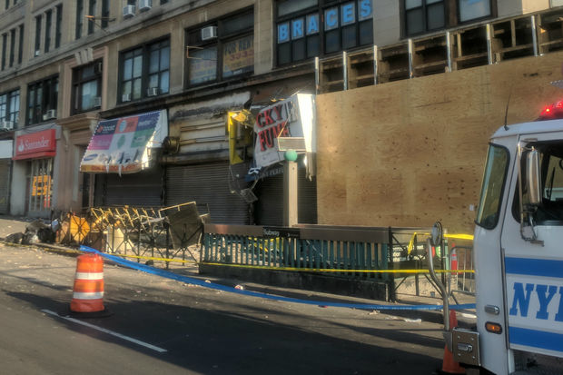 One person suffered life-threatening injuries in the collapse, officials said.