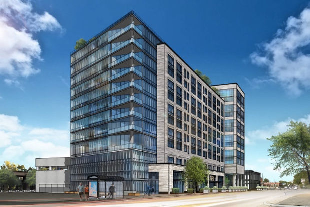 Ald. Brian Hopkins said a scaled-down 10-story, 293-unit development proposal at Father and Son Plaza still posed concerns over transportation and density.