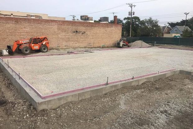 Officials broke ground on the site at 4939 W. Irving Park Road in July.