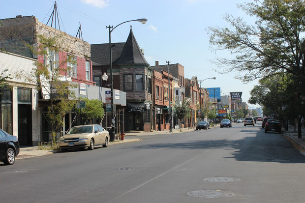 Under the proposed legislation, all properties located within 2610-2787 N. Milwaukee Avenue and 2800-2957 N. Milwaukee Avenue (pictured) would get a low-density zoning designation.