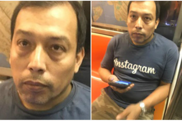 The suspect put his phone under the woman's skirt on the B train, police said.