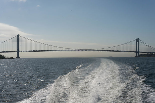 Developers tested the Tottenville to Downtown Manhattan ferry for the first time Wednesday.