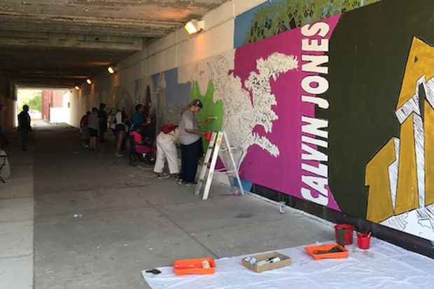64th street mural project needs painters saturday for Chicago mural project