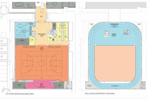 Designed for kids with autism new 12 million fitness for How many square feet is a basketball court