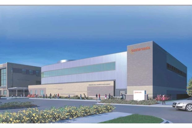 Easterseals broke ground Wednesday on a new health and fitness center next to its Terrance J. Hancock Family Campus on the Near West Side.