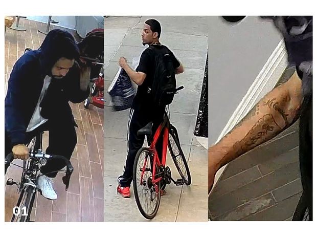 Police said these men have been stealing objects from basement areas along Bennett Avenue and West 190th Street.