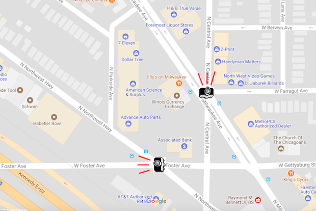 The Cameras Will Target Drivers At These Two Intersections Google Maps