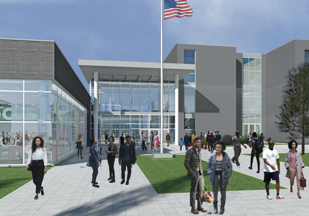 This rendering shows the plan for the new Englewood High School.