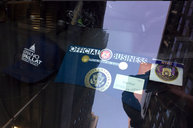 Ny congressmans business card doubles as bogus parking permit the permit says official business and was placed on a dashboard next to a hat bearing the congressmans name view full caption reheart Choice Image