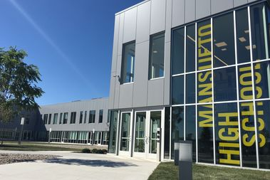 Mansueto High School, 2911 W. 47th St., held its grand opening Friday.