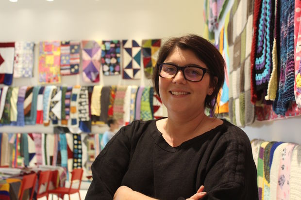 A project to knit more than 2,000 blankets for refugees is the first project brought in by the new director of the Smart Museum, Alison Gass.