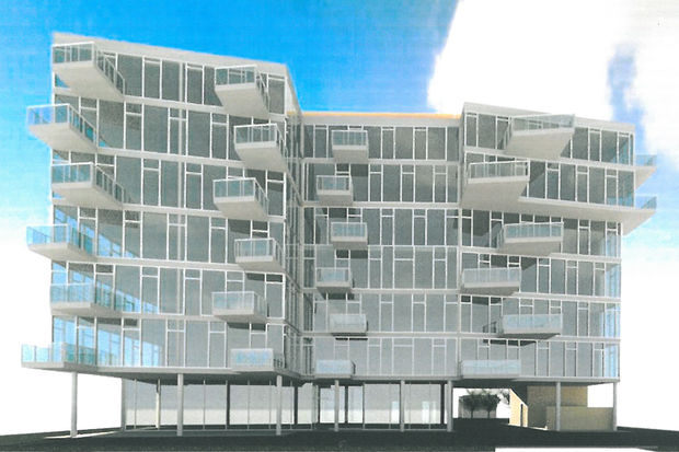 A seven-story condominium tower has been proposed for South Shore, the first in a decade.